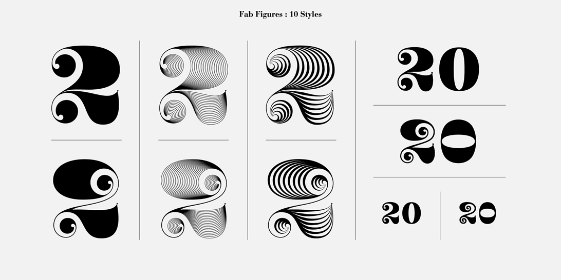 Fab Figures 10 Typefaces